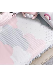 Edredom Bebê Nuvem De Algodão Rosa Estampado Grão De Gente Rosa