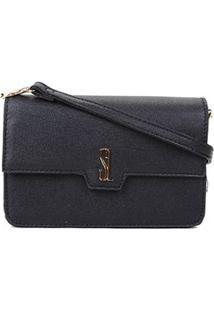 Bolsa Santa Lolla Mini Bag Caviar Feminina - Feminino-Preto