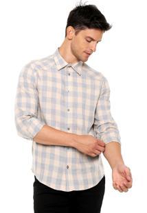Camisa Forum Quadriculada Laranja