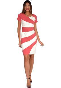 Vestido Pirony Nude Com Couro Off Ref. 116781-2