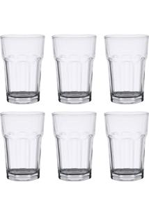 Conjunto 6 Copos De Vidro Para Drink Alto 425 Ml Allure - Bon Gourmet - Transparente