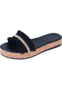 Sandália Flatform Maresias Mercedita Shoes Preto