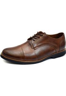 Sapato Social Oxford Shoes Grand Derbi Chocolate Tamanho Especial
