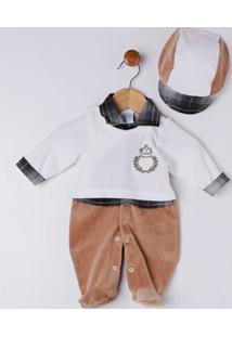 Enxoval Infantil Para Bebê Menino - Branco/Marrom