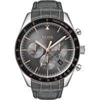 3037eaff9ed Relógio Hugo Boss Masculino Couro Preto - 1513628