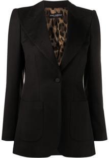 Dolce & Gabbana Blazer Com Lapelas Amplas - Marrom
