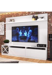 Estante Home Para Tv Até 50 Polegadas 2 Portas Adega Vicenza Quiditá Branco