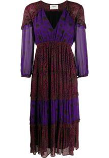 Ba&Sh Vestido Gypsy - Roxo