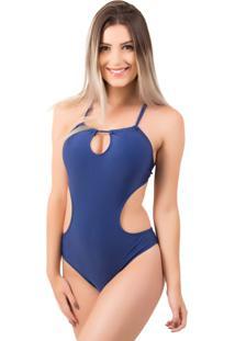 Maiô Bella Fiore Modas Engana Mamãe Jéssica Azul Marinho