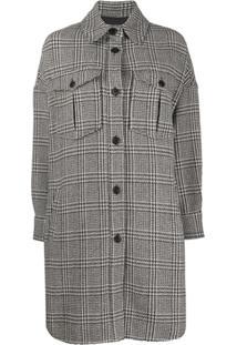 Isabel Marant Étoile Houndstooth Shirt Jacket - Preto
