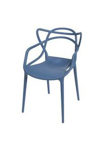 Cadeira Master Allegra Polipropileno Azul Petroleo - 47216 Azul