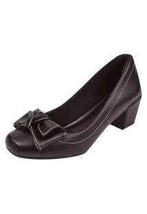 Scarpin Uzze Sapatos Salto Bloco Preta