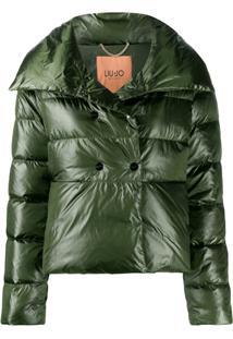 Liu Jo Double-Breasted Puffer Jacket - Verde