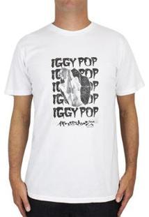 Camiseta Billabong Iggy Pop Raw Power Vintage Whi - Masculino