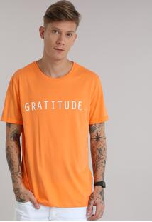 "Camiseta ""Gratitude"" Laranja"