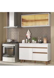 Cozinha Compacta Madesa Reims 120001 Com Armário E Balcão - Branco Branco