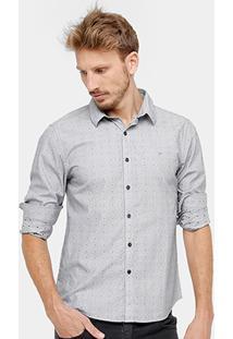 Camisa Ellus Slim Fit Maquinetada Masculina - Masculino