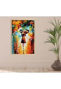 Quadro Love Decor Com Moldura Alone At Night Madeira Clara Grande