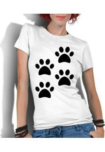 5330dffbe ... Camiseta Criativa Urbana Engraçadas 4 Patas - Feminino-Branco