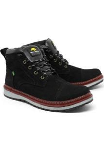 Bota Bell Boots Estilo Casual Couro Masculina - Masculino-Preto
