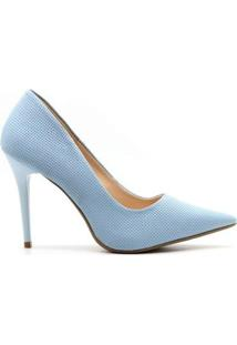 Scarpin Royalz Trama Penélope Feminina - Feminino-Azul