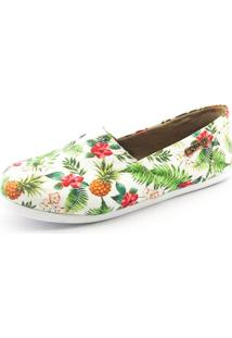 Alpargata Quality Shoes Feminina 001 Abacaxi Branco 33