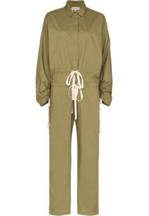 Lee Mathews Drawstring Cargo Jumpsuit - Verde