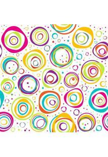 Papel De Parede Adesivo Círculos Coloridos (0,58M X 2,50M)