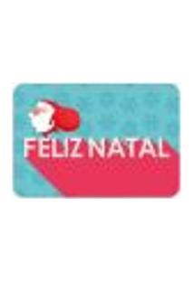 Tapete Decorativo Mdecore Feliz Natal Colorido 40X60Cm