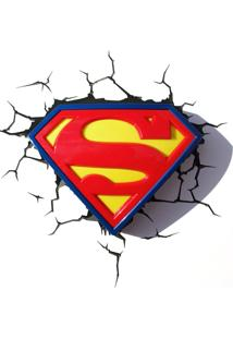 Luminária 3D Light Fx Dc Comics Logo Superman
