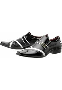 Sapato Social Gofer Verniz - Masculino-Preto