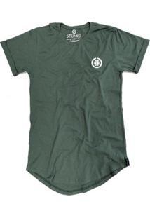Camiseta Longline Stoned Basic Masculina - Masculino-Verde