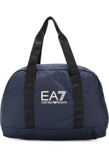 Ea7 Emporio Armani Bolsa Tote Com Logo - Azul