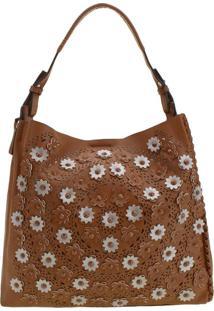 Bolsa Feminina Arara Dourada - Hs032 Caramelo