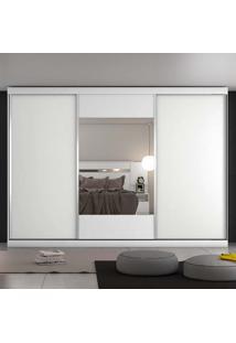 Guarda-Roupa Casal 3 Portas E 4 Gavetas Milano – Móveis Europa - Branco Acetinado