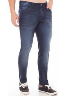 Calça Jeans Skinny Cropped Eventual Azul