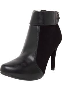 Ankle Boot Crysalis Amarração Preta