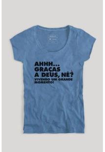 Camiseta Reserva Grande Momento Feminina - Feminino-Azul