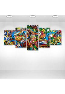 Quadro Decorativo - Crazy Urban Art - Composto De 5 Quadros
