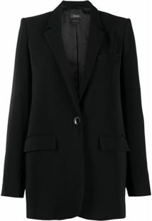 Isabel Marant Blazer Oversized Com Abotoamento Simples - Preto