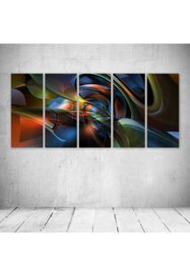 Quadro Decorativo - Abstract Designs - Composto De 5 Quadros - Multicolorido - Dafiti