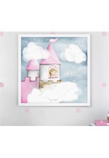 Quadro Amiguinha Princesa Na Torre 38Cm Grão De Gente Rosa