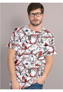 Camiseta Bandup! Turma Da Mônica Chico Bento Full - Masculino-Branco