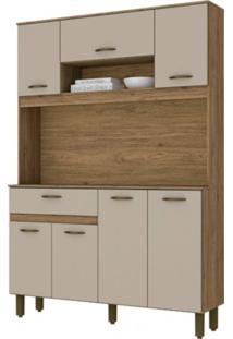 Cozinha Compacta Henn Briz B114.93 Rústico/Cristal Se
