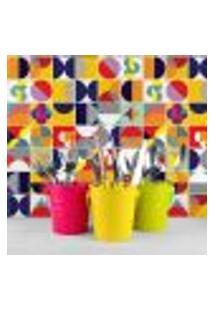 Adesivo De Azulejo Colorido Retrô 10X10 Cm Com 50Un