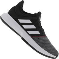 23a00112500 Tênis Adidas Gamecourt - Masculino - Preto Branco Centauro