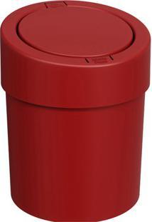 Lixeira Automática- Vermelha- 25,6Xø20Cm- 5Lbrinox