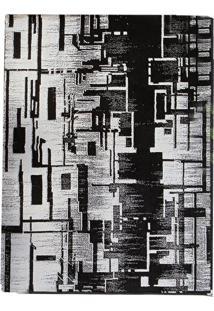 Tapete Andino Abstrato Iv Retangular Polipropileno (133X190) Preto