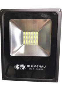 Refletor Led Blumenau Slim 30W 6000K Preto Bivolt