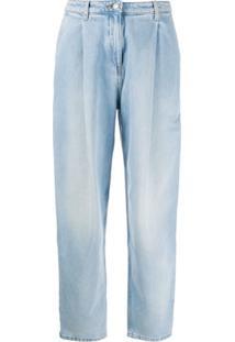 Magda Butrym Calça Jeans Cintura Alta Totenes - Azul